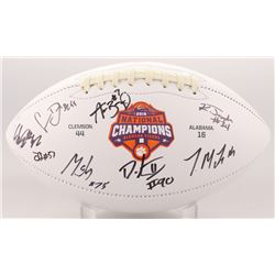 2018 National Champions Clemson Tigers Logo Football Team-Signed by (8) With Christian Wilkins, Dext