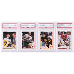 Lot of (4) Hockey Trading Cards with 1990-91 Upper Deck #356 Jaromir Jagr RC (PSA 6), 1990-91 Upper
