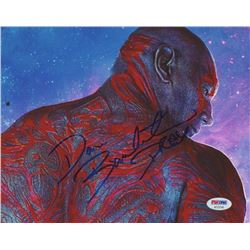"Dave Bautista Signed ""Guardians of the Galaxy"" 8x10 Photo Inscribed ""Drax"" (PSA COA)"