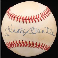 Mickey Mantle Signed OAL Baseball (JSA ALOA)