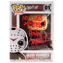 "Ari Lehman Signed Jason Voorhees #01 Funko Pop! Vinyl Figure Inscribed ""No Lives Matter!""  ""Jason 1"""