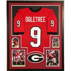 Alec Ogletree Signed Georgia Bulldogs 34x42 Custom Framed Jersey (JSA COA)
