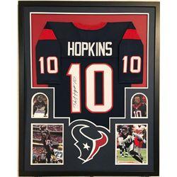 DeAndre Hopkins Signed Houston Texans 34x42 Custom Framed Jersey (JSA COA)