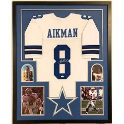 Troy Aikman Signed Dallas Cowboys 34x42 Custom Framed Jersey (JSA COA)