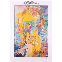 "Leroy Neiman Signed ""Shaq 2000"" 27x39 Print (PSA COA)"