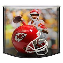 Patrick Mahomes Signed Kansas City Chiefs Full-Size Helmet with Curve Display Case (Fanatics Hologra