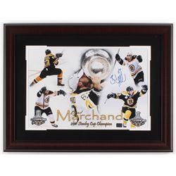 Brad Marchand Signed Bruins 19x25 Custom Framed Photo Display (Marchand Hologram)