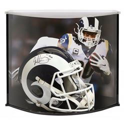 Todd Gurley Signed Los Angeles Rams Full-Size Helmet with Curve Display Case (Fanatics Hologram)