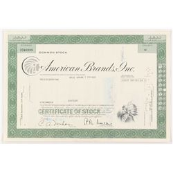 """Vintage 1971 """"American Brands, Inc."""" (16) Shares Stock Certificate"""
