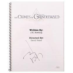 """Johnny Depp Signed """"Fantastic Beasts: The Crimes of Grindelwald"""" Movie Script (JSA Hologram)"""