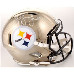 JuJu Smith-Schuster Signed Pittsburgh Steelers Full-Size Chrome Speed Helmet (Schwartz COA)