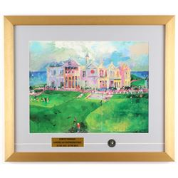 "LeRoy Neiman ""The Old Course at St. Andrews"" 18x21 Custom Framed Print Display"