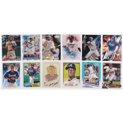 Lot of (12) Ronald Acuna Jr. Baseball Cards