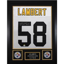 Jack Lambert Signed Pittsburgh Steelers 24x30 Custom Framed Jersey (JSA COA  Lambert Hologram)
