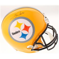 "James Conner Signed Pittsburgh Steelers ""75th Anniversary"" Full-Size Gold Helmet (Schwartz COA)"