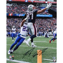 Rob Gronkowski Signed New England Patriots 16x20 Photo (Beckett COA)
