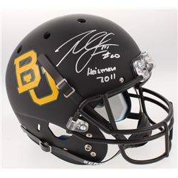 "Robert Griffin III Signed Baylor Bears Full-Size Custom Matte Black Helmet Inscribed ""Heisman 2011"""