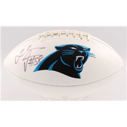 Thomas Davis Signed Carolina Panthers Logo Football (JSA COA)