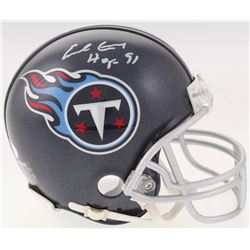 "Earl Campbell Signed Tennessee Titans Mini Helmet Inscribed ""HOF 91"" (JSA COA)"