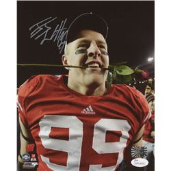 J. J. Watt Signed Wisconsin Badgers 8x10 Photo (JSA COA  Watt Hologram)