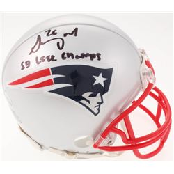 "Sony Michel Signed New England Patriots Mini-Helmet Inscribed ""SB LIII Champs"" (Beckett COA)"