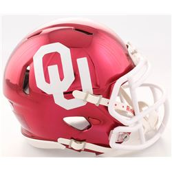 Adrian Peterson Signed Oklahoma Sooners Chrome Speed Mini Helmet (Beckett COA)