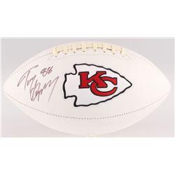 Tony Gonzalez Signed Kansas City Chiefs Logo Football (JSA COA)