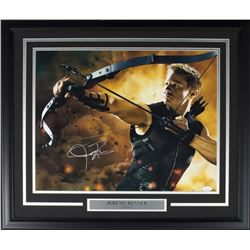 "Jeremy Renner Signed ""Avengers"" 22x27 Custom Framed Photo Display (JSA COA)"