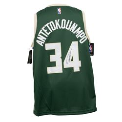 Giannis Antetokounmpo Signed Milwaukee Bucks Nike Connect Jersey (JSA COA)