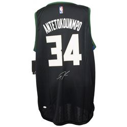 Giannis Antetokounmpo Signed Milwaukee Bucks Fanatics NBA Replica Jersey (JSA COA)