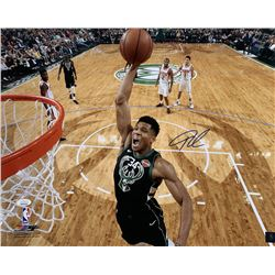 Giannis Antetokounmpo Signed Milwaukee Bucks 16x20 Photo (JSA COA)