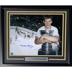 Bobby Orr Signed Boston Bruins 22x27 Custom Framed Photo Display (Great North Road COA)