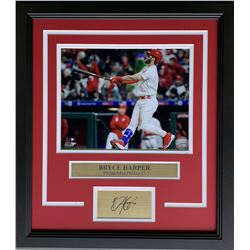 Bryce Harper Philadelphia Phillies 17x19 Custom Framed Photo Display with Laser Engraved Signature