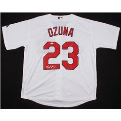 Marcell Ozuna Signed St. Louis Cardinals Jersey (JSA COA)