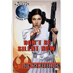 "Greg Horn Signed Marvel ""Star Wars: Princess Leia"" 13x19 Lithograph (JSA COA)"