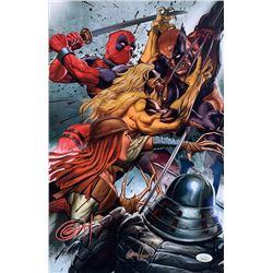 "Greg Horn Signed Marvel ""Wolverine Enemies"" 11x17 Lithograph (JSA COA)"