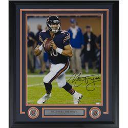Mitchell Trubisky Signed Chicago Bears 22x27 Custom Framed Photo Display (Fanatics Hologram)