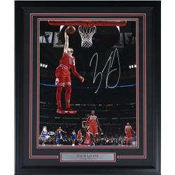 Zach Lavine Signed Chiacgo Bulls 22x27 Custom Framed Photo Display (Beckett COA)