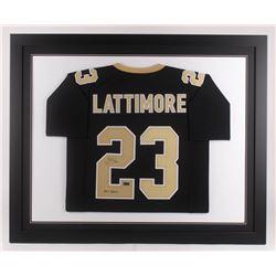 "Marshon Lattimore Signed New Orleans Saints 35.5x43.5 Custom Framed Jersey Inscribed ""2017 DROY"" (Ra"