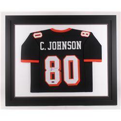 Chad Johnson Signed Oregon State Beavers 35.5x43.5 Custom Framed Jersey (Radtke COA)