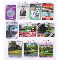 Lot of (10) 2000-2009 Masters Tournament Badges