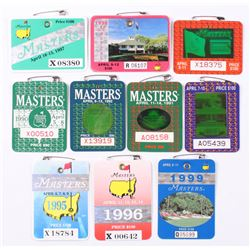 Lot of (10) 1990-1999 Masters Tournament Badges