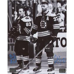 Brad Marchand  Patrice Bergeron Signed Boston Bruins 8x10 Photo (Bergeron COA  Merchand COA)