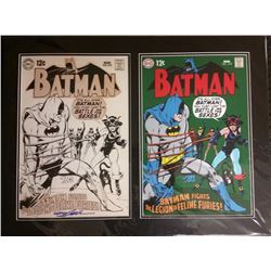 "Neal Adams Signed Batman Raw  Rendered ""The Legion Of Feline Furies!"" LE 21x28 Custom Matted Giclee"