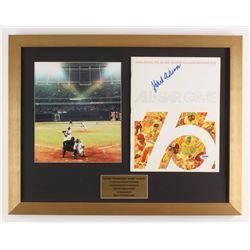 "Hank Aaron Signed ""1976 All-Star Program"" 17x22 Custom Framed Shadowbox Display with Photo (PSA COA)"