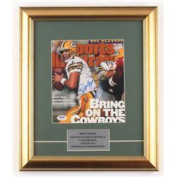 Brett Favre Signed Green Bay Packers 14x16.5 Custom Framed Sports Illustrated Cover (PSA COA)