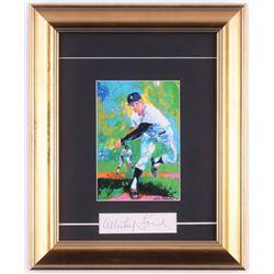 Whitey Ford Signed New York Yankees 11x13.5 Custom Framed Cut (PSA COA)