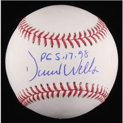 "David Wells Signed OML Baseball Inscribed ""PG 5-17-98"" (JSA COA)"