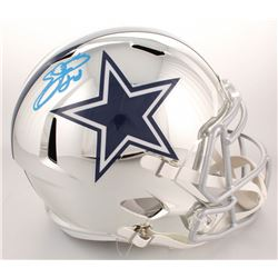 Emmitt Smith Signed Dallas Cowboys Full-Size Chrome Speed Helmet (Beckett COA  PROVA Hologram)