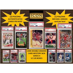 ICON AUTHENTIC  100X DOUBLE GRADED CARD  MYSTERY BOX SERIES 4 Guaranteed Michael Jordan PSA/DNA Card
